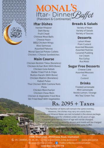 Monal Islamabad Iftar Buffet