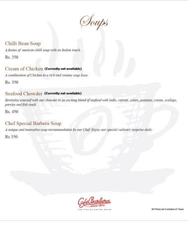 Cafe Barbera Soups