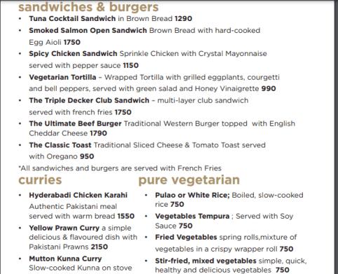 Marco polo menu prices