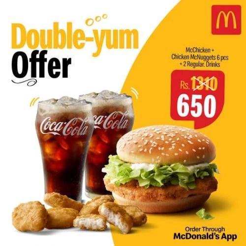 Mcdonalds double yum offer