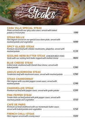 casa villa steak