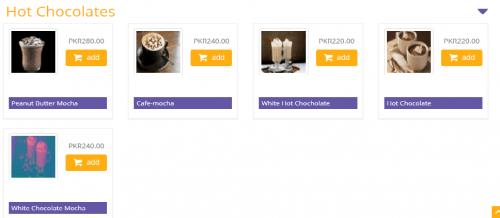 Cafe M menu rates
