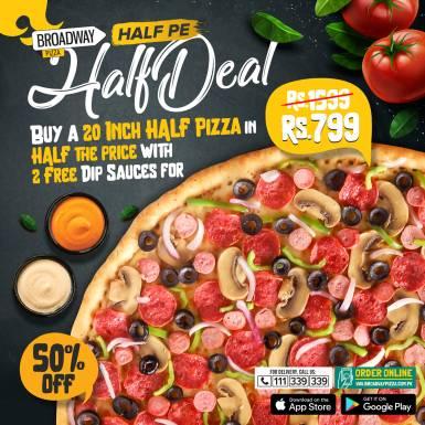 Broadway Pizza Half Deal