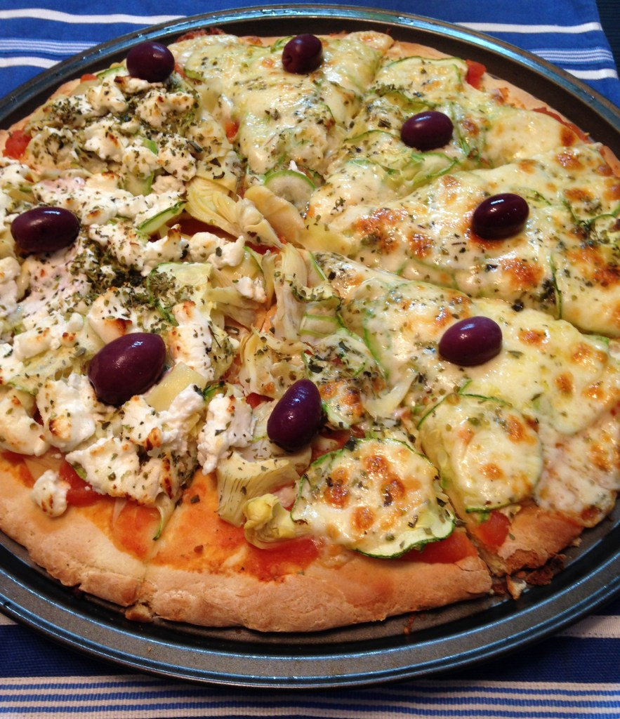 Pizza sem glúten especial feita com Mix Pan da Schär