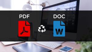 Guhindura PDF muri Word Document