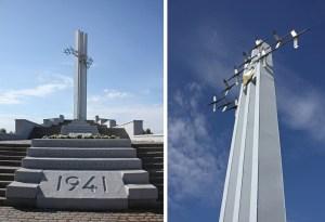Памятник Журавли в парке Победы Саратов автор Менякин