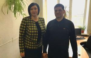 Депутат Татьяна Касаева и Иван Менякин