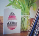 Washi Tape Easter Egg Card