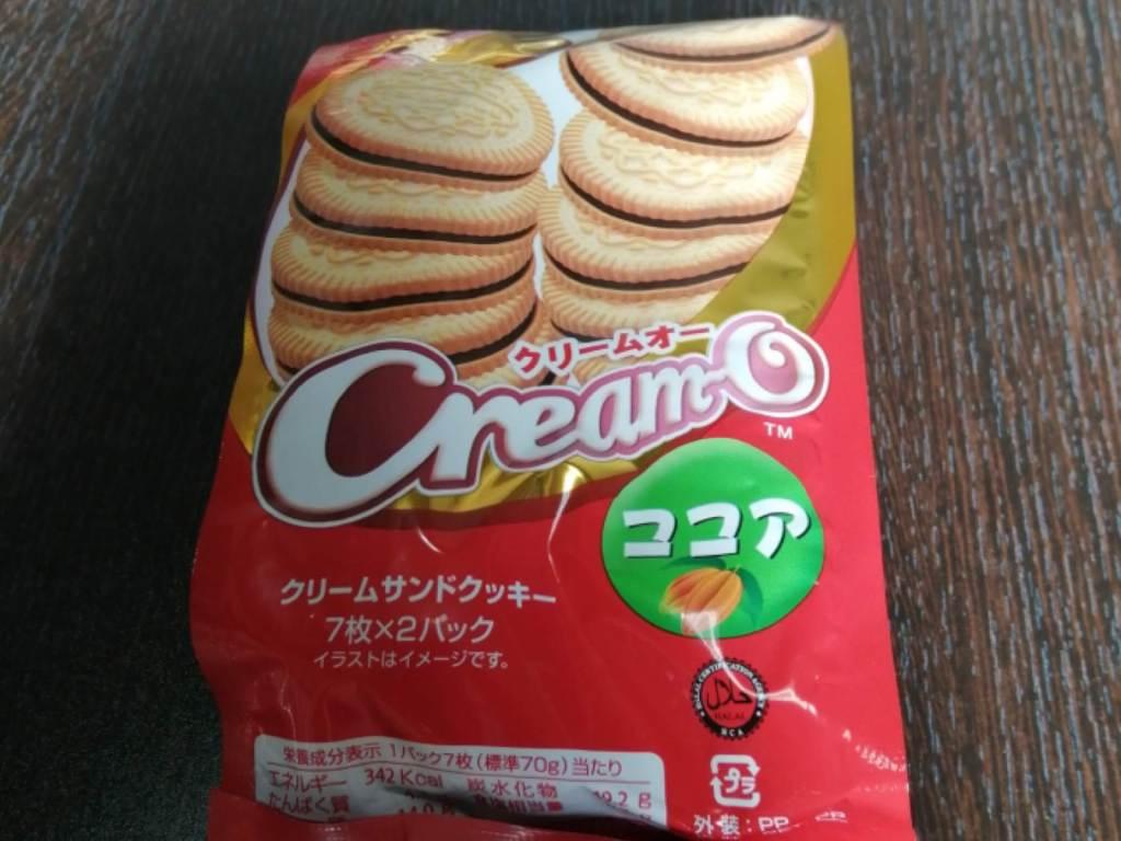 クリームオーココア味(クリームサンドクッキー)のパッケージ