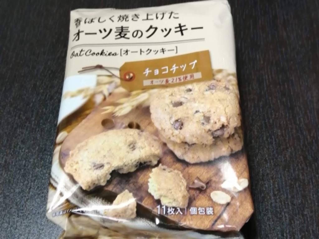 オーツ麦のクッキーチョコチップのパッケージ