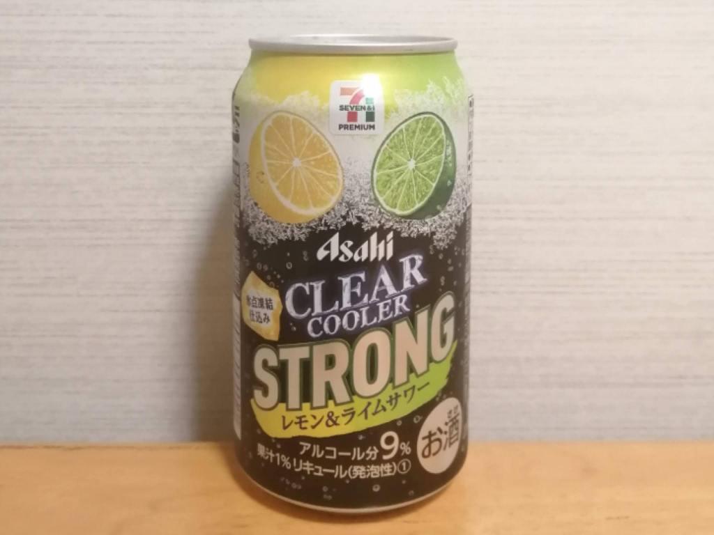 アサヒクリアクーラーストロングレモン&ライムサワーのパッケージ