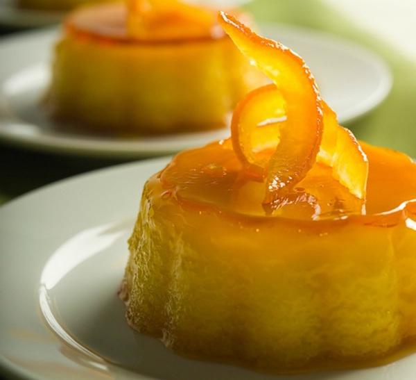cách làm bánh flan hương cam