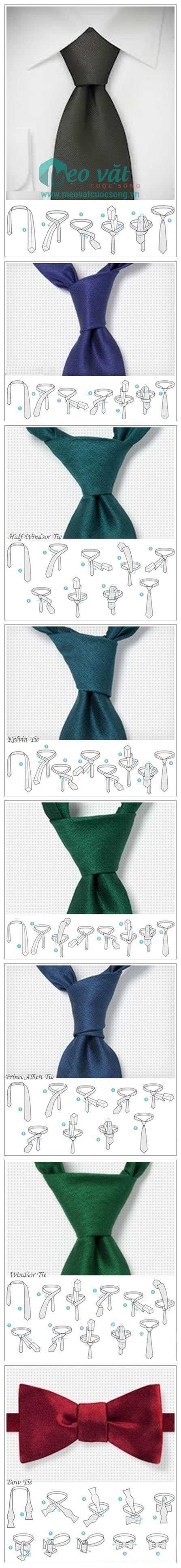 Cách thắt cà vạt (caravat) đơn giản