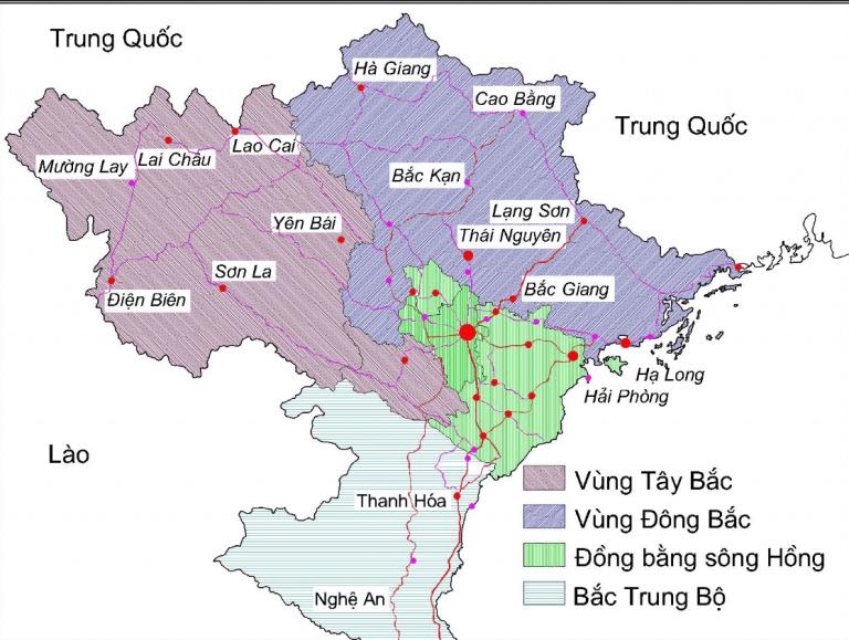 Các tỉnh miền bắc Việt Nam