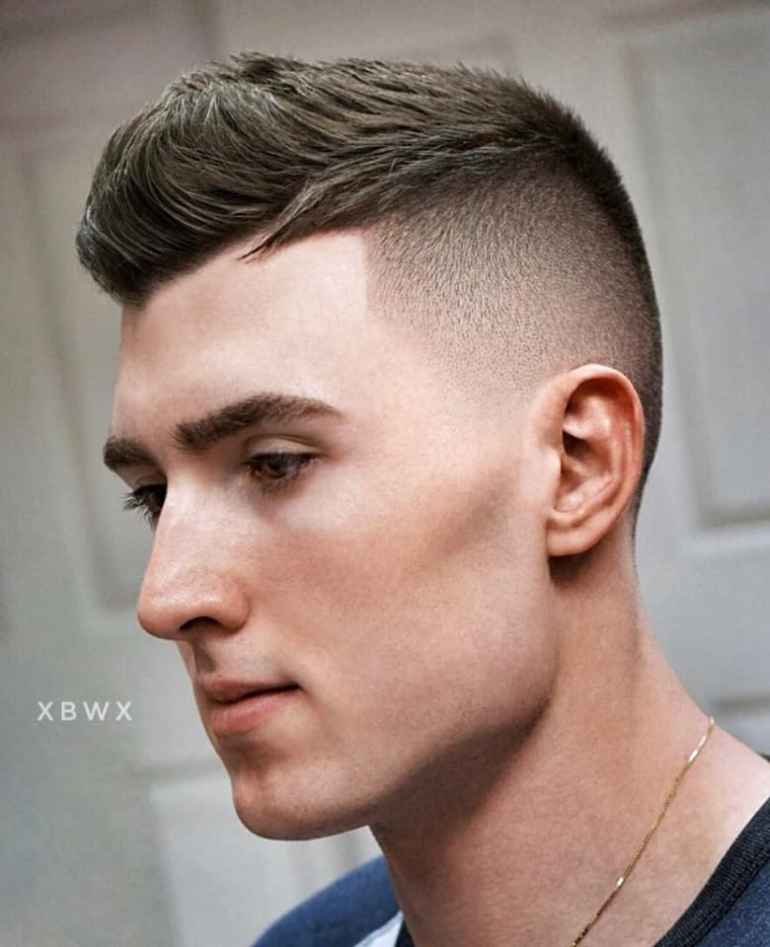 Kiểu Short Quiff + Drop Fade