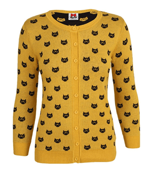 womens cat cardigan