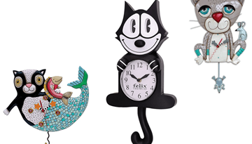 cat clocks feature