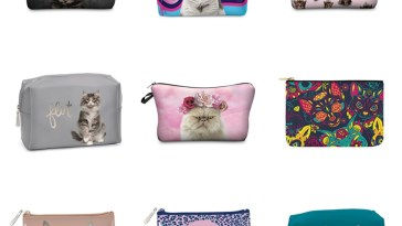 cat makeup bags feature