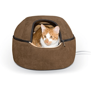 heated cat bed