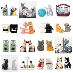 salt and pepper cat shakers feature