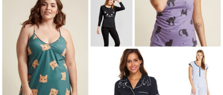 womens cat pajamas feature