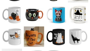 halloween cat mugs feature