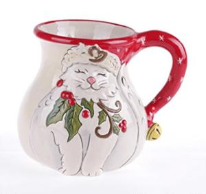 christmas cat mug