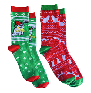 christmas cat socks women