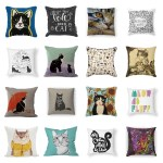 square cat throw pillows feature