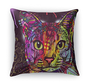 square cat throw pillows cushions