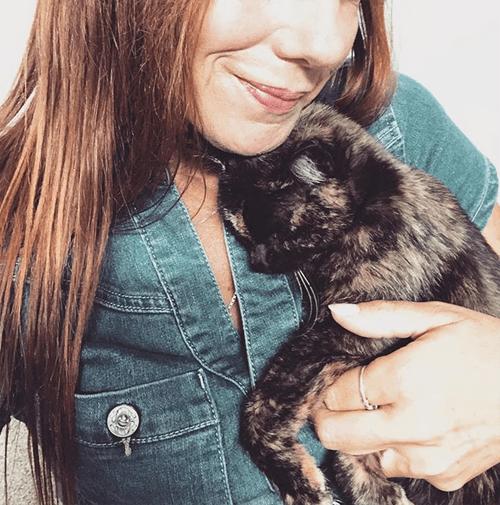 tortie kitten with cerebellar hypoplasia radial hypoplasia