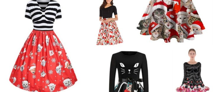 best cat dresses christmas for women feature