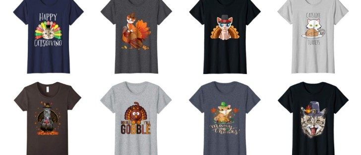 purrfect thanksgiving cat tshirts feature