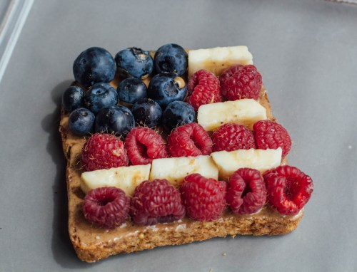 Memorial Day Flag Fruit Toast