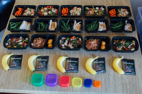 meal prep laid out
