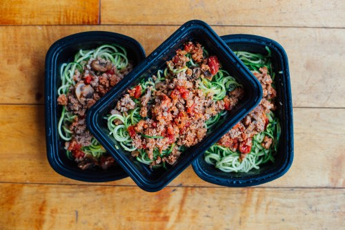 turkey marinara and zoodles