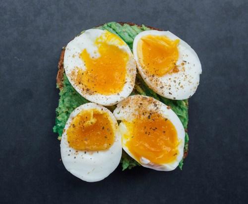 healthy breakfast toast ideas - avocado and egg combination