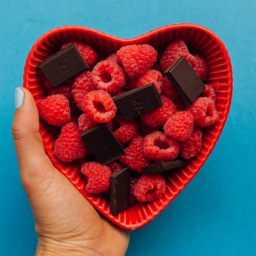 Healthy Snack Ideas - Chocolate + Fruit