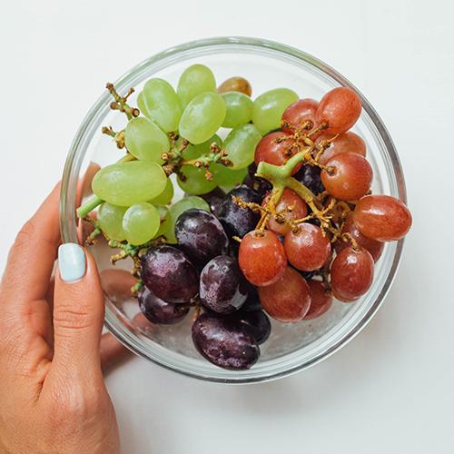 Healthy snack ideas - Grapes