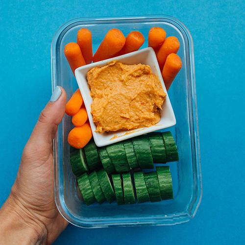 Healthy Snack Ideas: Hummus & Veggies