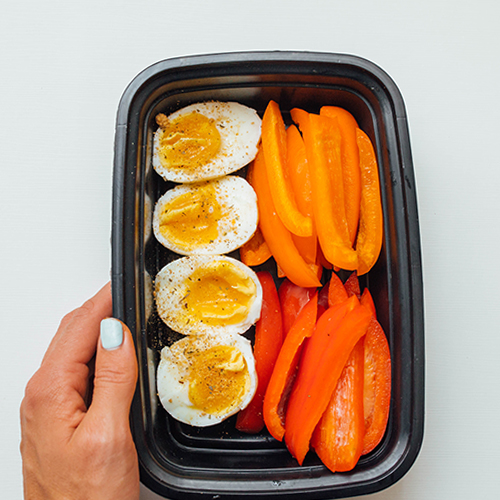 Healthy snack ideas - Egg Bell Peppers
