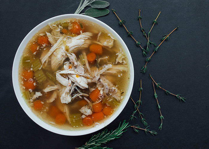 Easy chicken soup - header image