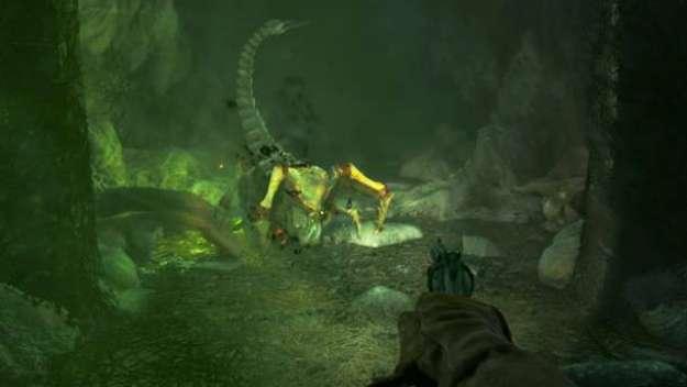 Уровень в логове пауков - реверанс в сторону Half-Life 2