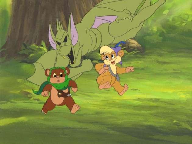 Star-Wars-Ewoks-Animated-Cels-80s-cartoons-24423163-900-674