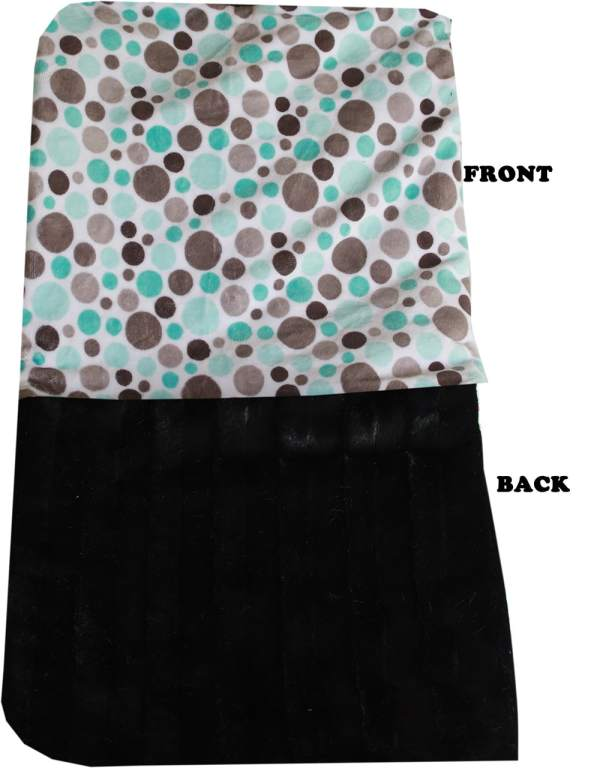 Plush Big Baby Blanket Aqua Party Dots