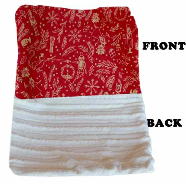 Plush Itty Bitty Baby Blanket Red Holiday Whimsy