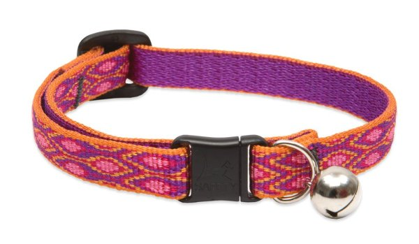 """Premium Safety Collar - Alpen Glow, 8-12"""" with bell"""