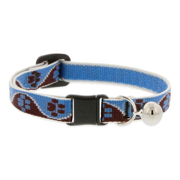 "Premium Safety Collar - Muddy Paws, 8-12"" with bell"