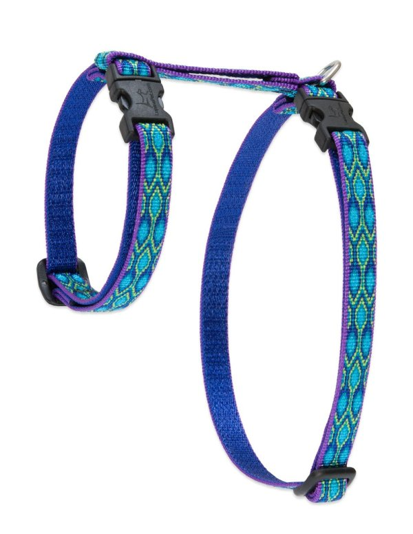 "Premium H-Style Harness - Rain Song, 12-20"" Girth"