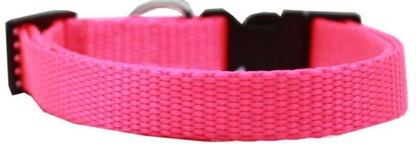 Plain Nylon Large Cat Collar Hot Pink